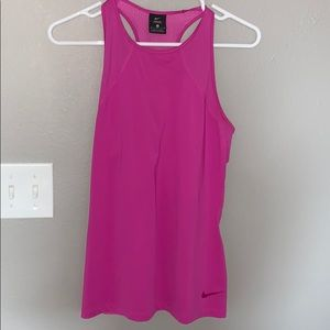 Nike pink athletic supercool tank top, size M.